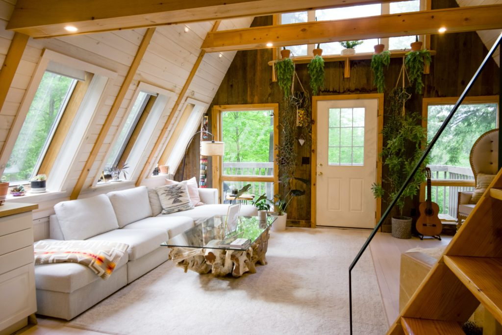 Interior of a tiny house