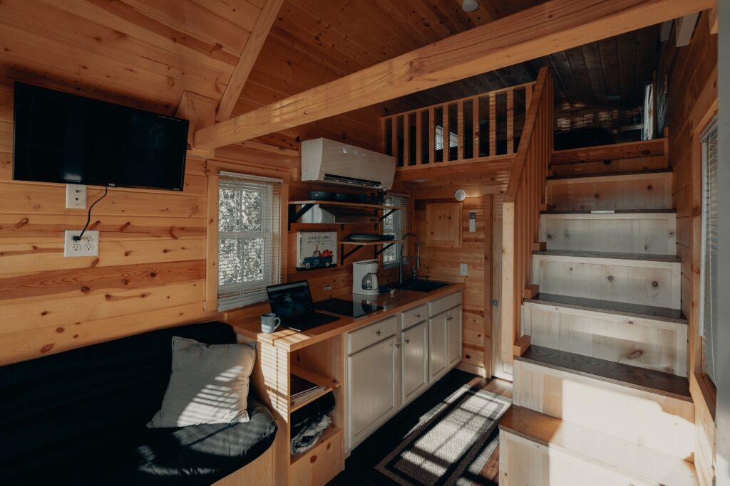 View inside a tiny home