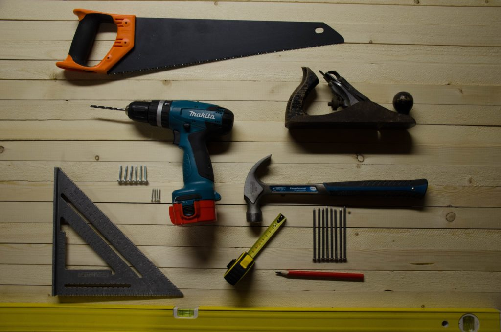 Tools and equipments for building a tiny home