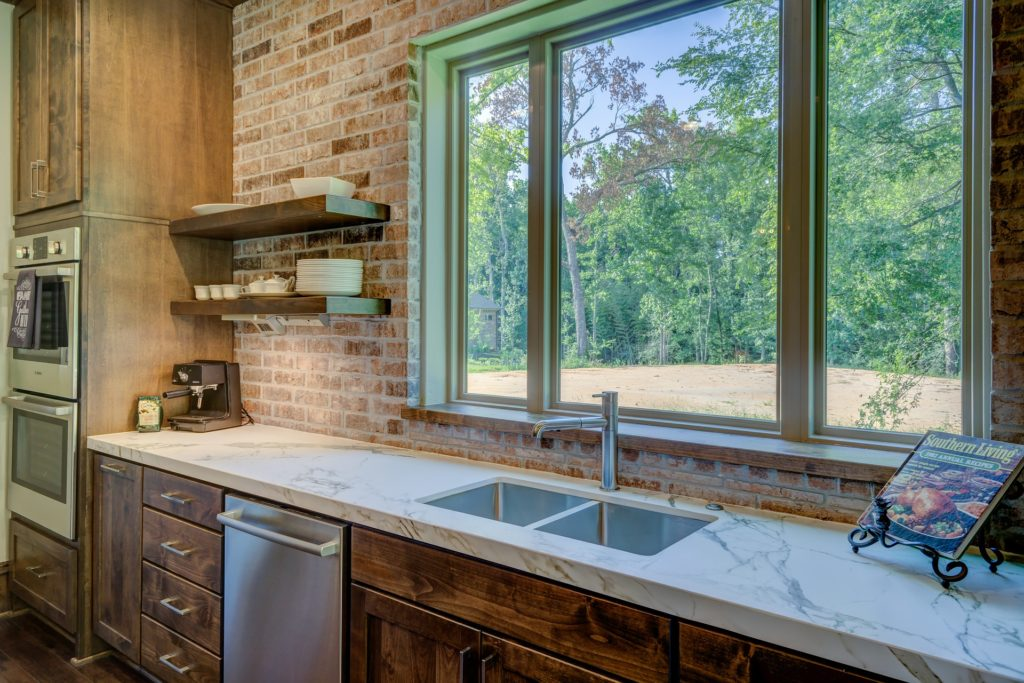 A view of the window and the sink in a tiny home